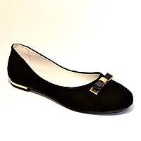 Туфли замшевые женские на низкой подошве, фото 1
