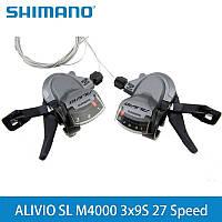 Манетки Shimano Alivio SL-M4000, 3x9, передняя+задняя, тросики и рубашки