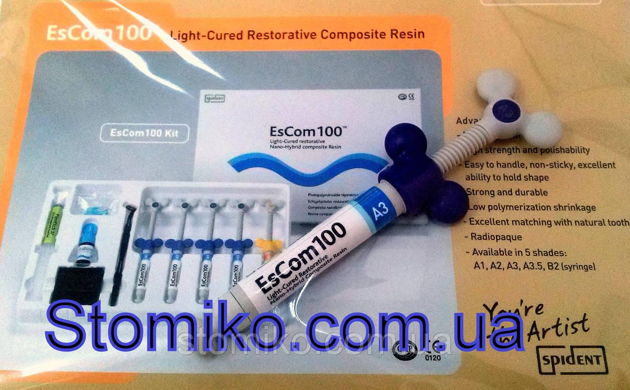 EsCom100  ОA2 - светоотверждаемый наногибридный композитный материал, шприц 4г - СТОМИКО в Киеве