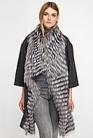Пальто шерстяное женское с мехом чернобурки Oversize