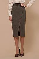 Женская юбка-карандаш  из эко-замши Размеры S M LXL