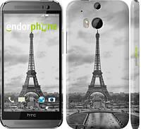 """Чехол на HTC One M8 Чёрно-белая Эйфелева башня """"842c-30"""""""
