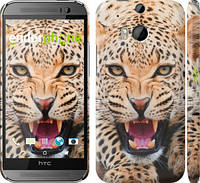 """Чехол на HTC One M8 Леопард """"846c-30"""""""