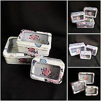 Стильная подарочная коробка с прозрачным окошком, металл, 18.9х13х6.5 см., 120 гр.