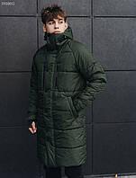 Мужская удлиненная зимняя куртка Стафф / Чоловіча зимова куртка Staff long haki DSS0032