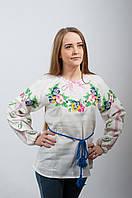 Женская вышиванка Незабудки