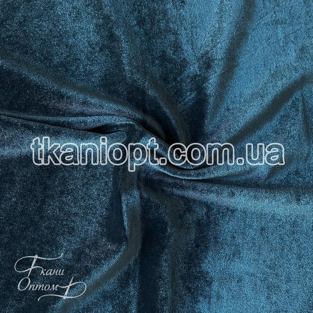 Ткань Стрейч бархат (темно-бирюзовый)