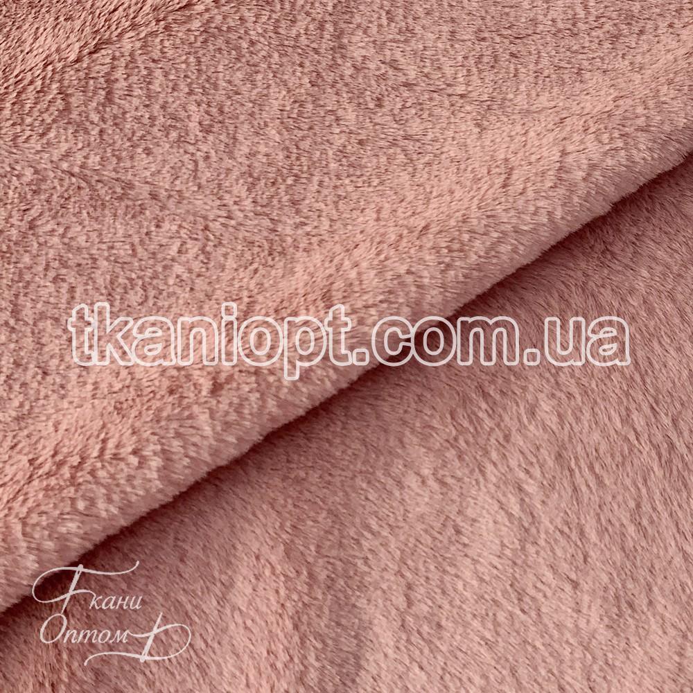 Ткань Мех искусственный кролик тонкий (пудра)