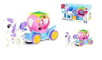Музыкальный Пони с каретой NO-7705 игровой детский набор