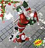 Новогодняя Фигура Деда Мороза 3 шт по 30 см на лестнице №36