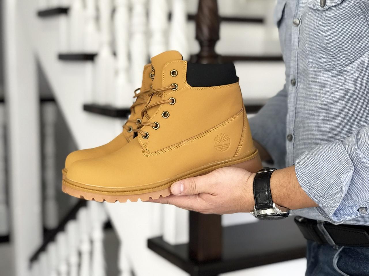 Мужские ботинки  эко кожа нубук внутри эко мех