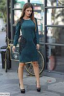 Приталенное красивое замшевое платье арт 3149