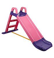 """Детская горка """"Фламинго"""" 0140/05, длинна спуска 140 см, розовая"""