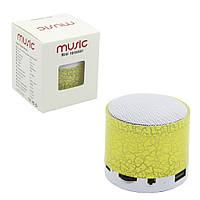 Портативная Bluetooth колонка SPS S60 с LED подсветкой желтый, фото 1