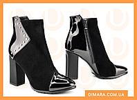Женские ботинки 2403-9137 MORENTO (черные, нат. замша, байка, весна/осень)