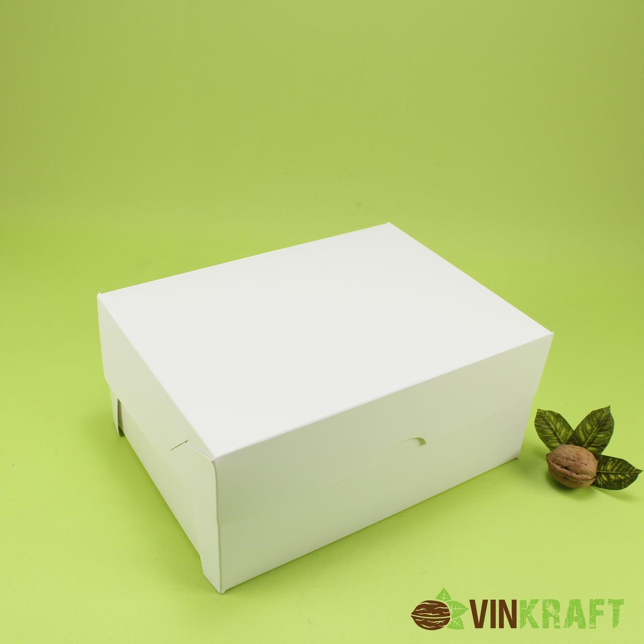 Коробка 240*180*110 (h=110) для капкейков  (6 шт), біла