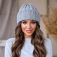 """Женская шапка LaVisio """"Симона"""" 461-017 серый"""