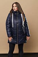 Женская зимняя куртка с капюшоном больших размеров (размеры 48-66)