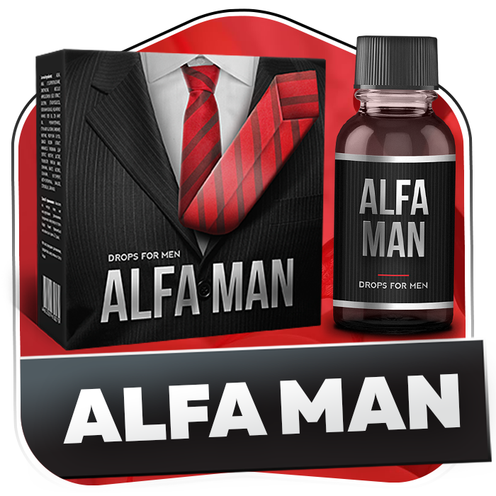 Капли для потенции Alfa Man (Альфа Мен), 30 мл