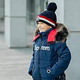 """Зимняя курточка для мальчика на флисовой подкладке """"Суприм"""", фото 6"""