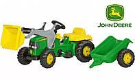 Детский трактор на педалях Rolly Toys 23110, с прицепом и ковшом