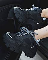 Женские кроссовки Prada Black (реплика), фото 1
