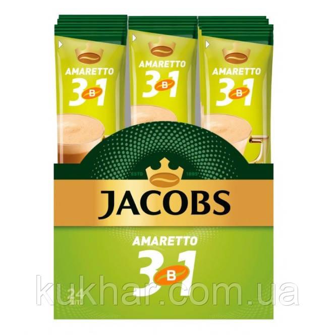 """Кава """"Jacobs"""" 3в1 Амарето 12,5г (уп. 24)"""
