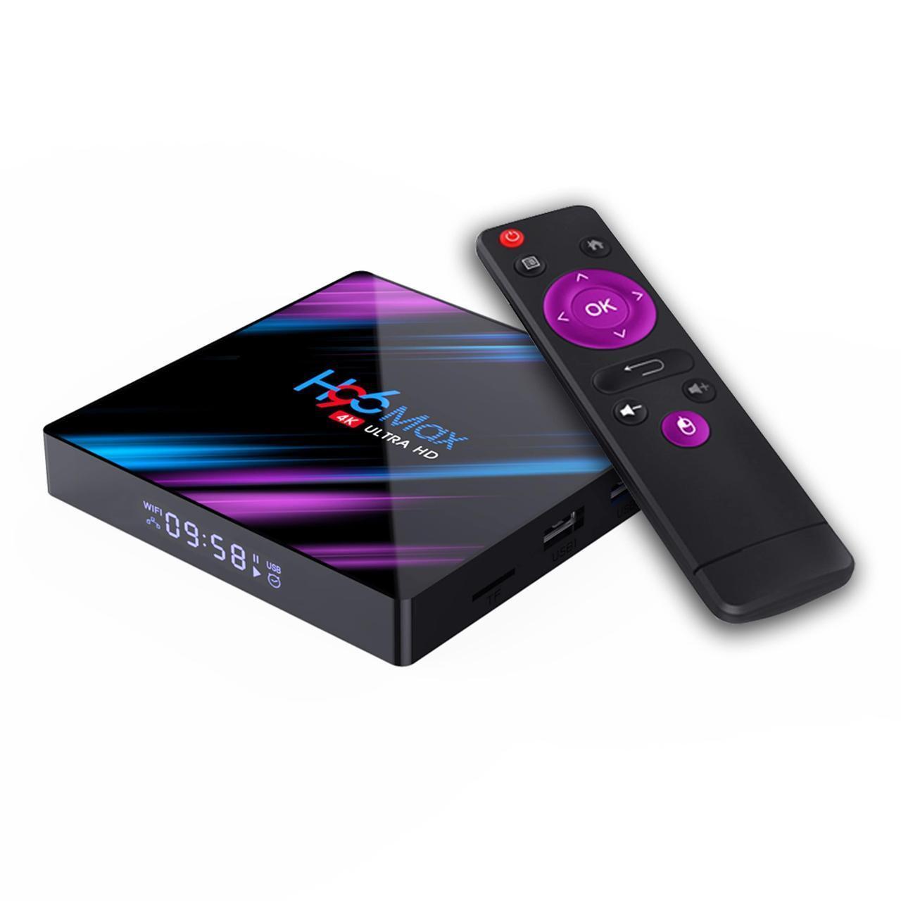 H96 Max 2/16 | RK3318 | Android 9.0 | Андроід ТВ Приставка | Smart TV Box (+ Налаштування)