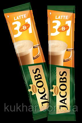 """Кава """"Jacobs"""" 3в1 Лате 12,5г (уп. 24)"""