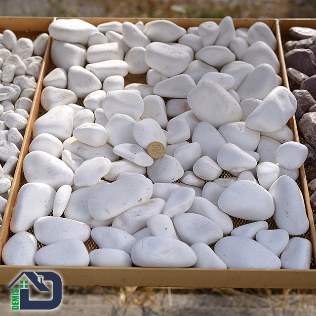 Галька декоративна Thassos White 5÷10, 10÷30, 30÷60, 80÷120