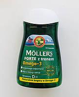 Норвежский рыбий жир натуральный в капсулах  Mollers Tran 112 шт. (Норвегия)