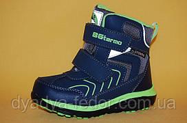 Детская зимняя обувь Термообувь B&G Украина 209802 Для мальчиков Синий размеры 27_32