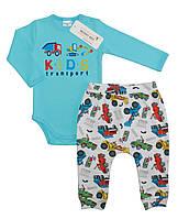 Боди и штаны для мальчика (интерлок), р. 68 см