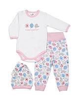 Комплект одежды для новорожденной девочки (интерлок), р. 7- 9 месяцев