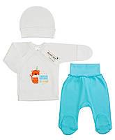 Комплект одежды для новорожденного в роддом (интерлок), р. 56
