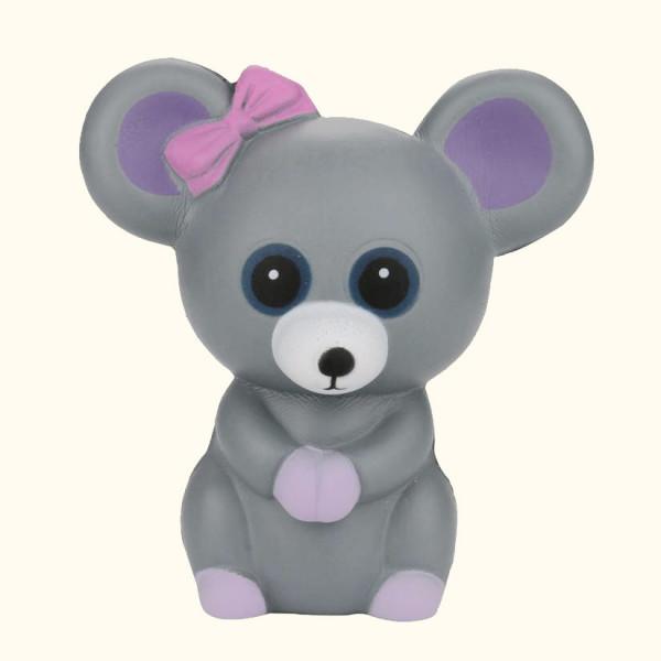 Мышка сквиш антистресс AA1435 ручная игрушка мышка с бантиком