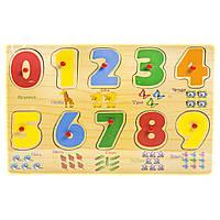 Деревянная рамка-вкладыш Цифры, 10 элементов