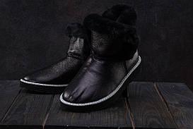 Женские ботинки кожаные зимние черные Best Vak УГ 44 -701