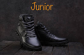 Ботинки подростковые Milord Olimp черные (натуральная кожа, зима)