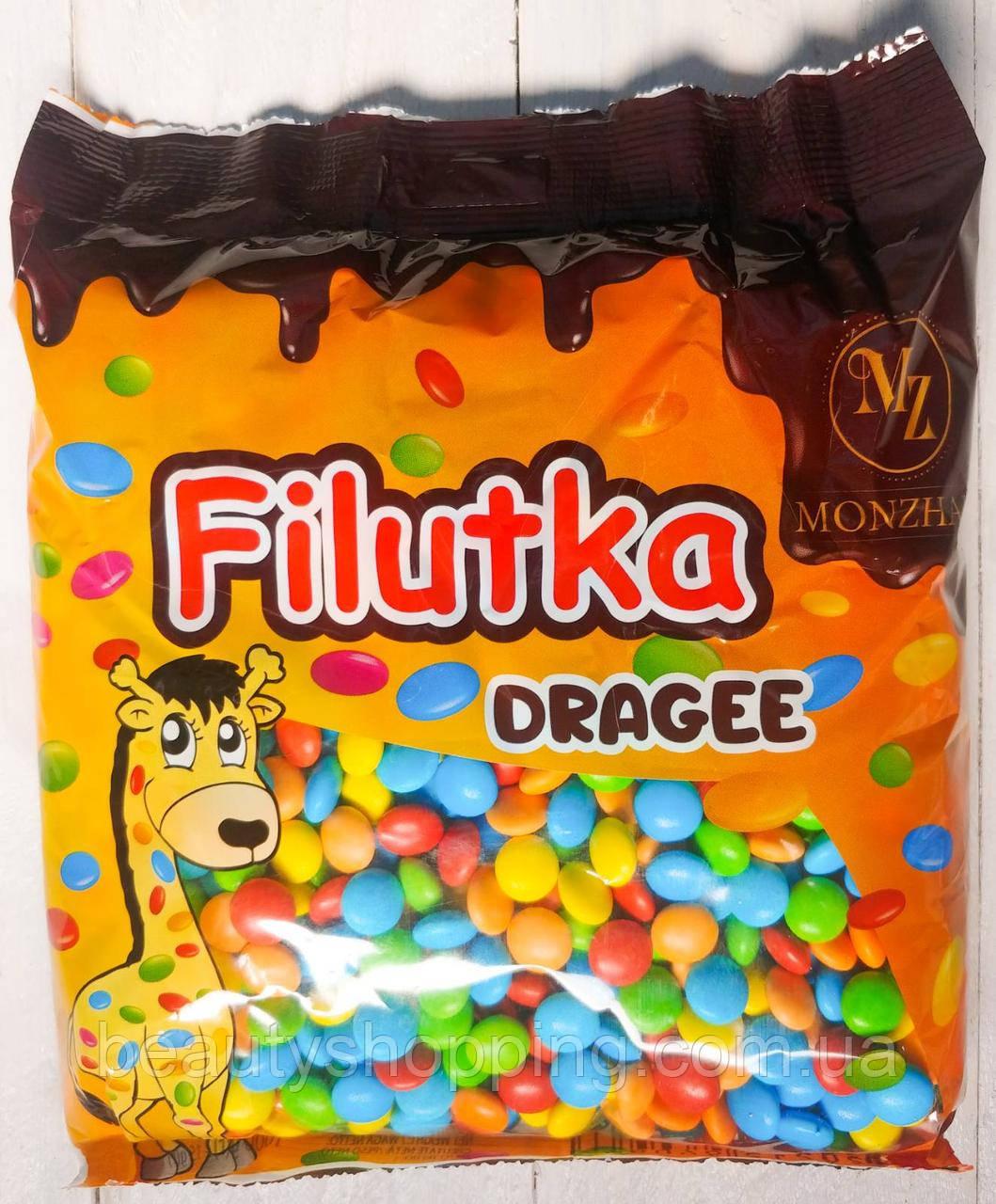 Filutki Dragee разноцветные шоколадные драже филютки 1 кг Saadet