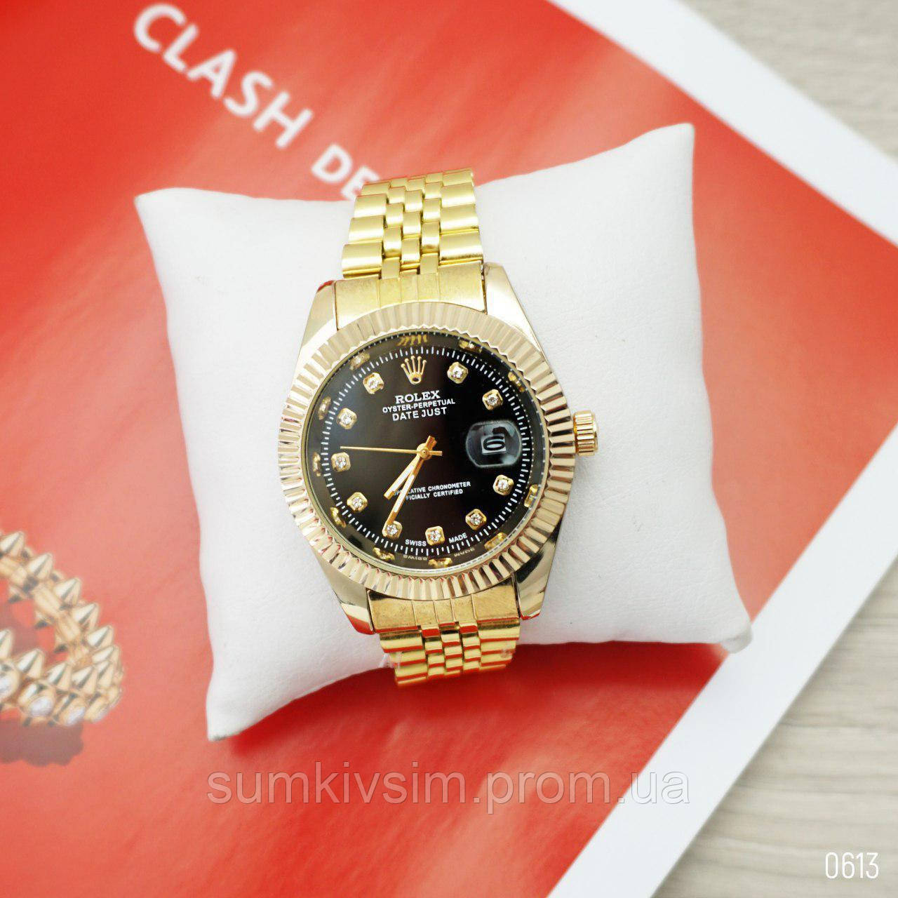 Женские наручные часы Rolex  Gold золотистого  цвета