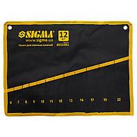Чехол для гаечных ключей 12 шт Sigma 6011061