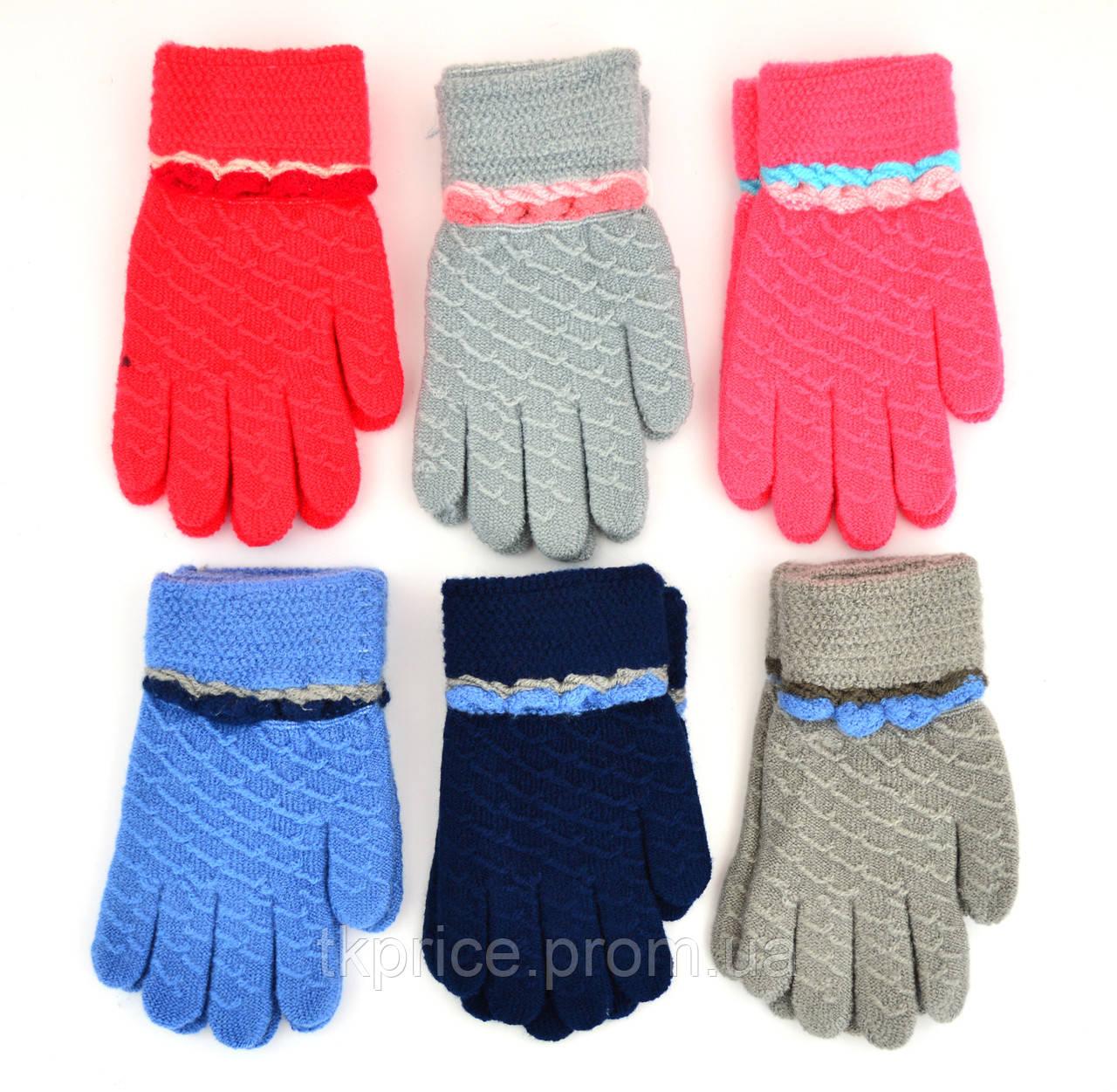 Детские шерстяные перчатки унисекс - длина 14 см