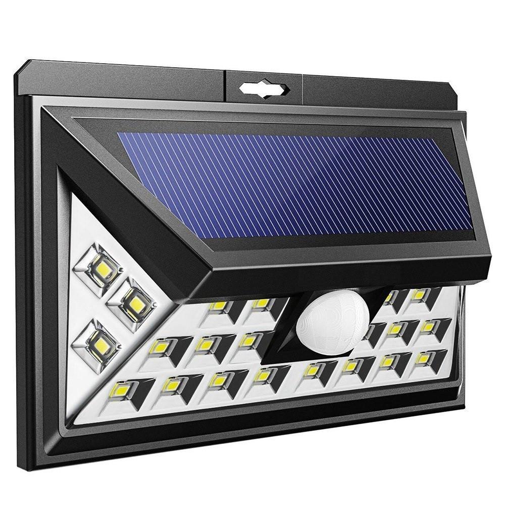 Светильник на солнечной батарее с датчиком движения настенный уличный 24 LED