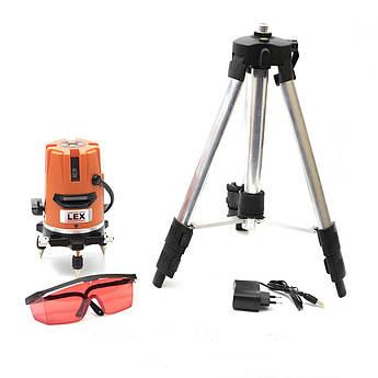 Лазерный уровень, нивелир LEX LXNL01 + Тренога в комплекте