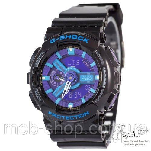 Наручные часы Casio G-Shock AAA GA-110 Black-Blue Autolight