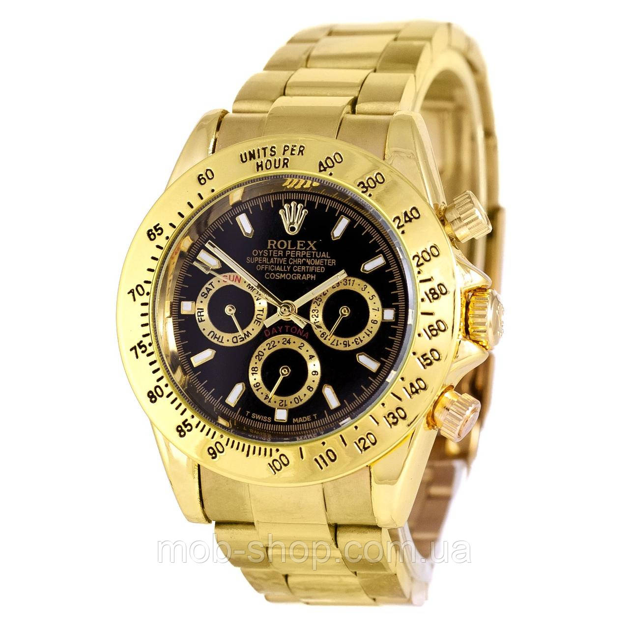 Наручные часы Rolex Daytona AA Men Gold-Black