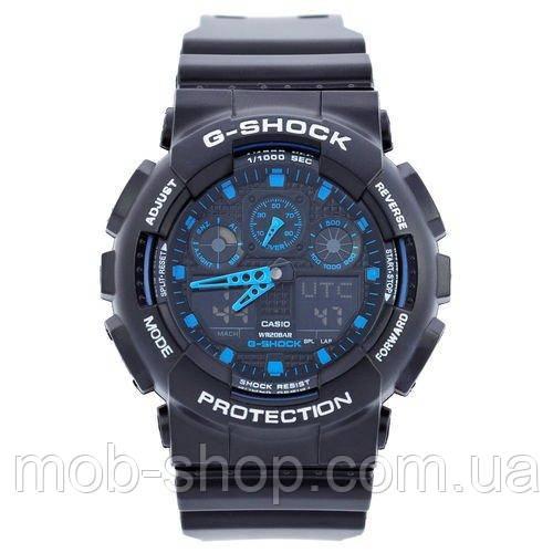 Наручные часы Casio G-Shock AAA GA 100 Black-Blue Autolight