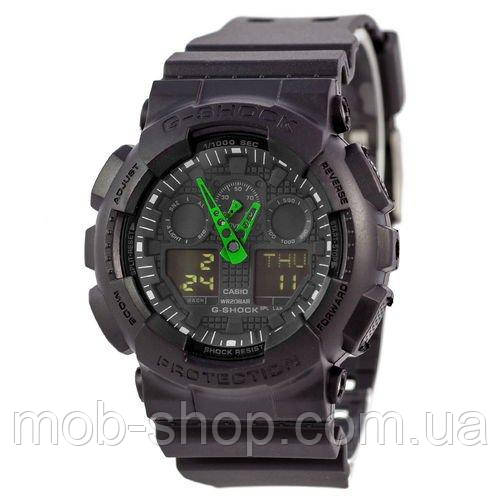 Наручные часы Casio G-Shock AAA GA-100 Black-Green Arrow Autolight