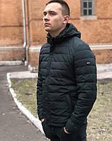 Мужская куртка ветровка парка осенняя стёганная короткая спортивная классика
